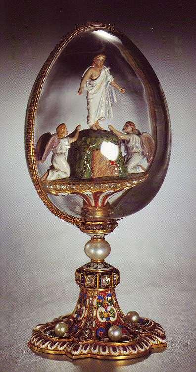 Egg resurrection faberge 1885 1889 - Russian easter eggs history ...