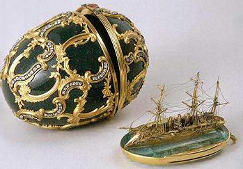 Egg with the ship Faberge 1891